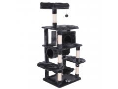 BEWISHOME Cat Tree Condo Furniture Kitten Activity Tower Pet Kitty Play House with Scratching Posts Perch Hammock Tunnel MMJ02H
